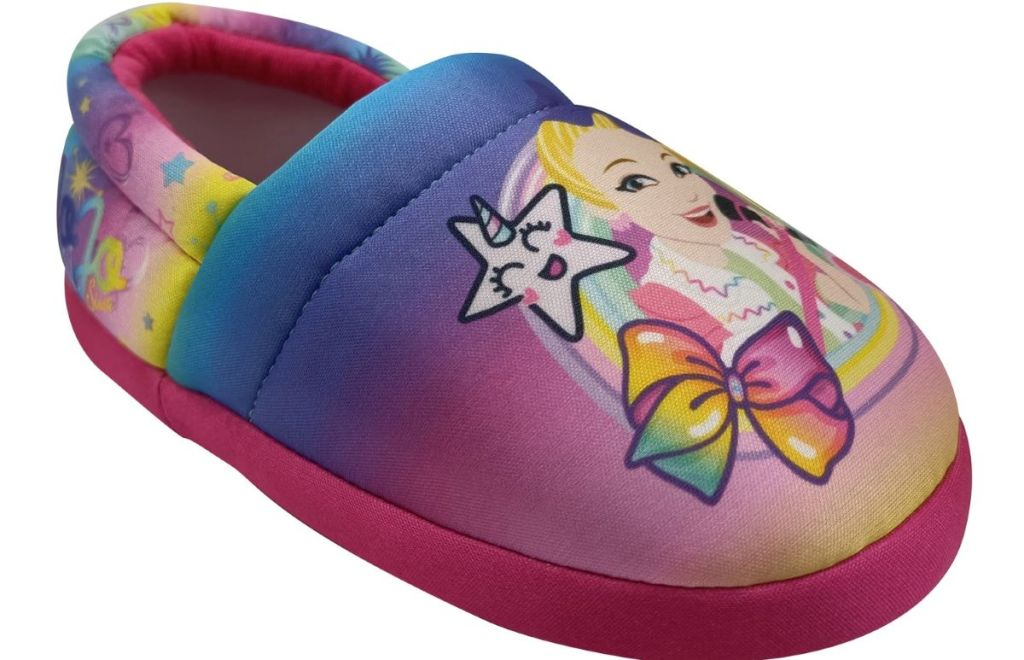 rainbow slipper with JoJo siwa on it