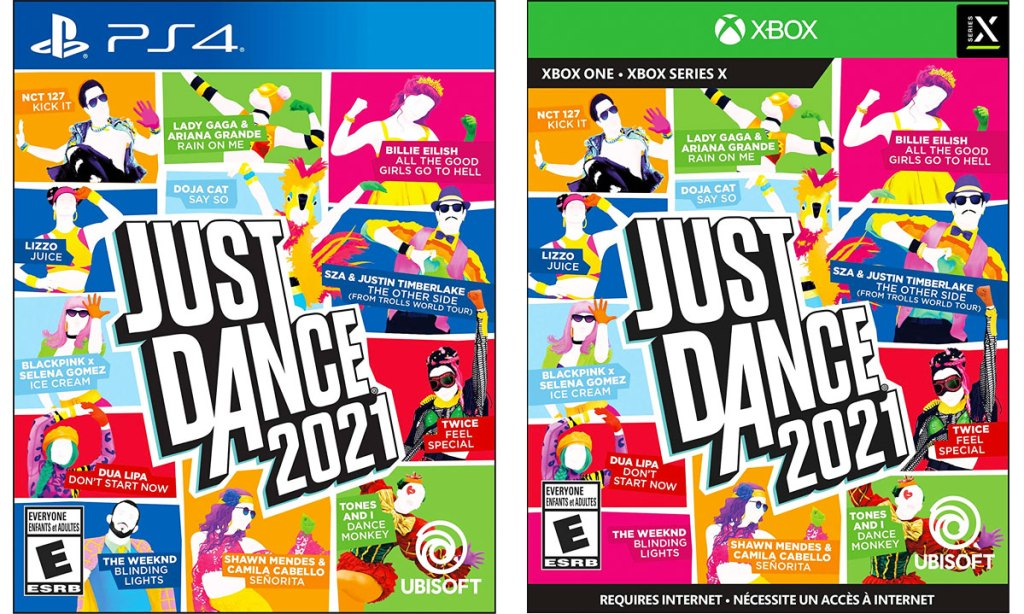 Just Dance 2021 video cases for the PS4 and Xbox One