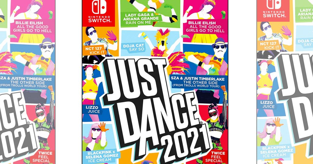 Just Dance 2021 video game case for the Nintendo Switch