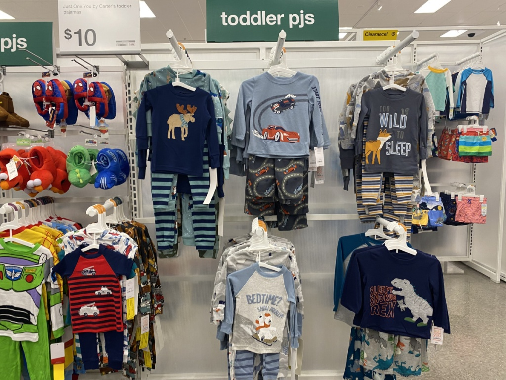 toddler pajama sets in store