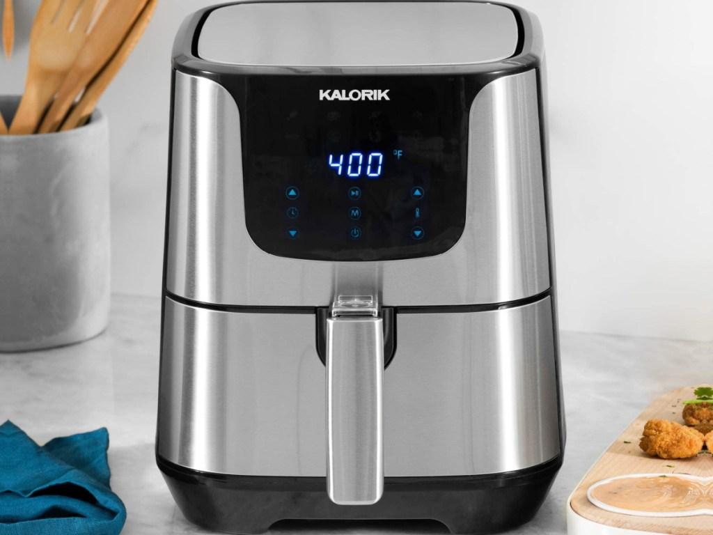 kalorik digital air fryer on kitchen counter