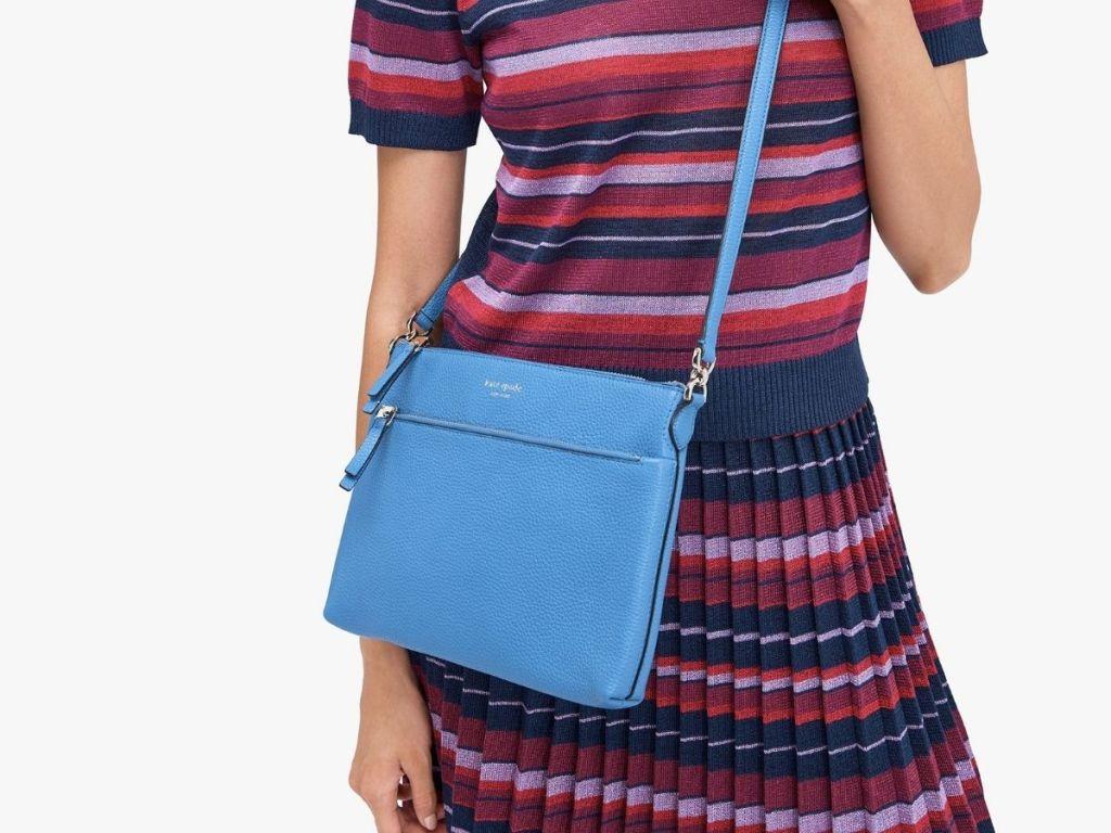 bright blue kate spade crossbody bag