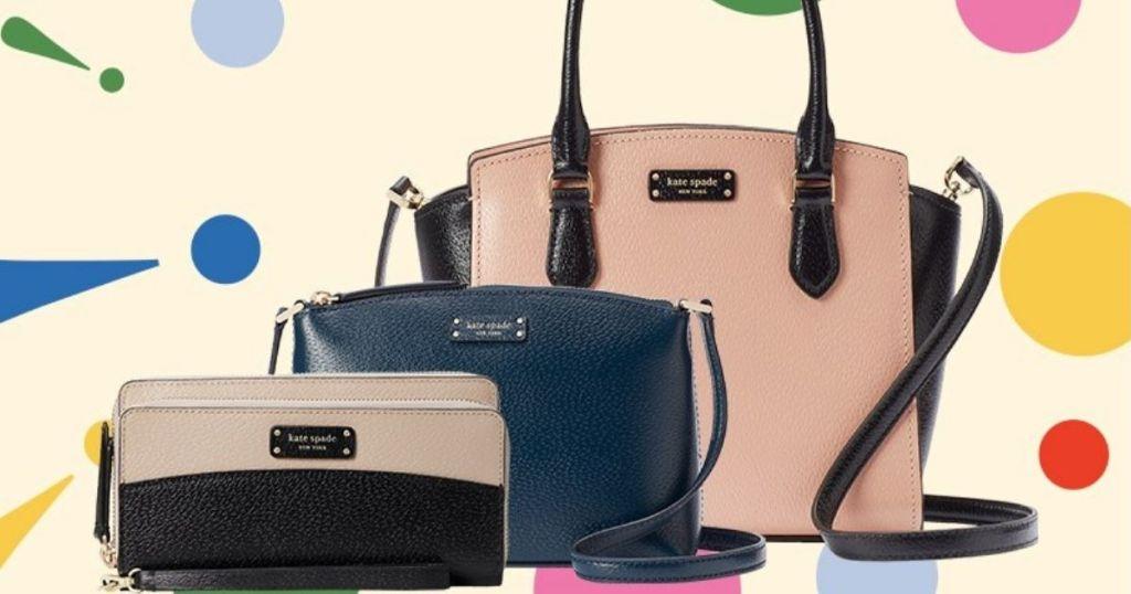 three Kate Spade purses