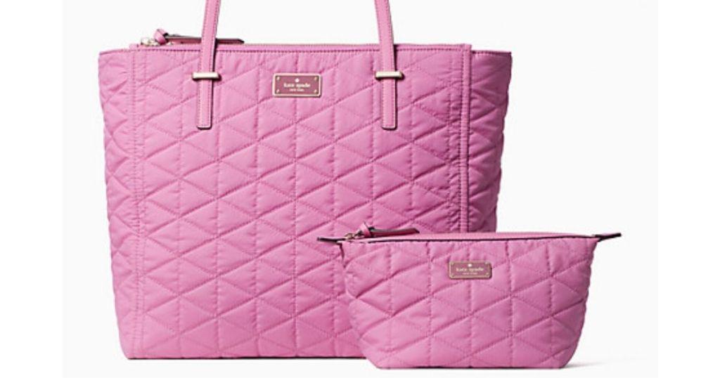 Kate Spade Wilson Quilted Bundle in pink