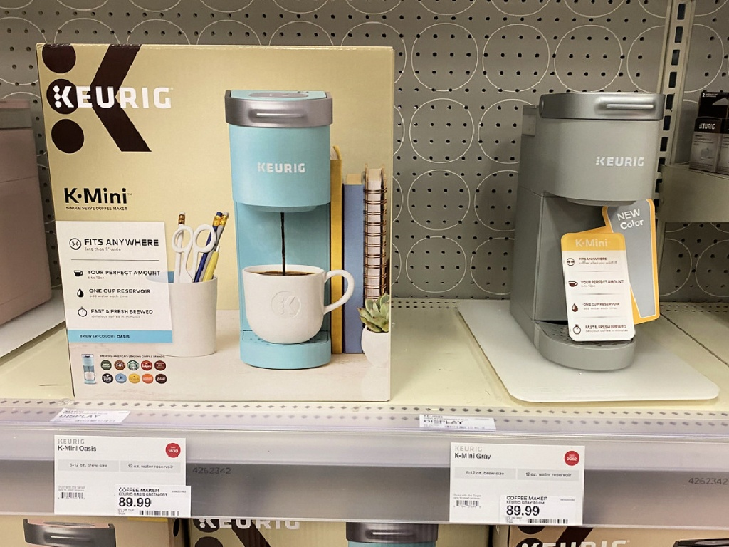 Keurig K Mini on shelf at Target