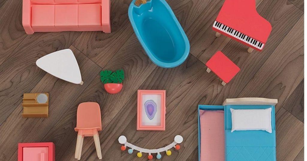 KidKdraft Dollhouse Furniture on wood