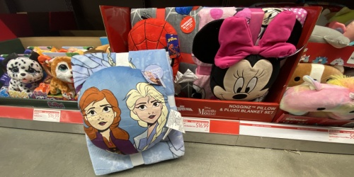 Kids Character Pillow & Blanket Sets Only $16.99 at ALDI | Disney Frozen, Spiderman & More