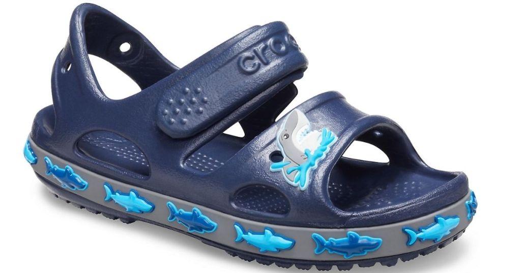 blue shark kids sandal