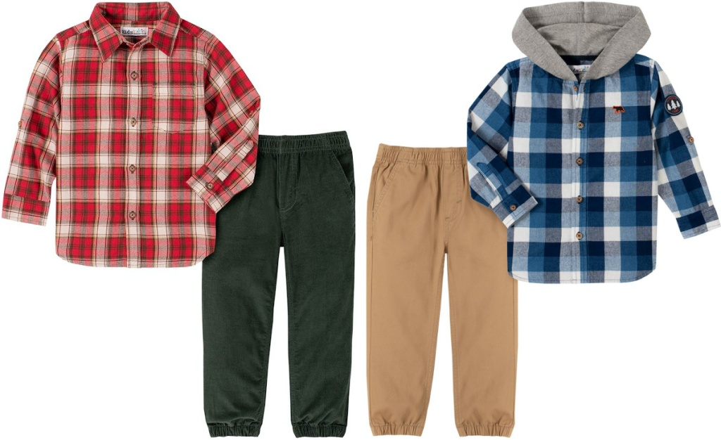 two toddler boys clothing sets