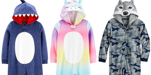 Toddler & Kids Hooded Pajamas from $11.90 (Regularly $34+) & Free Shipping for Select Kohl's Cardholders