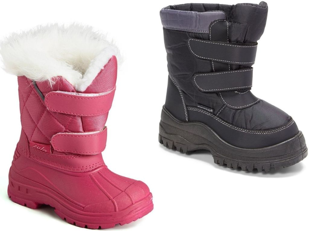 Two Kids Winter Snow boots