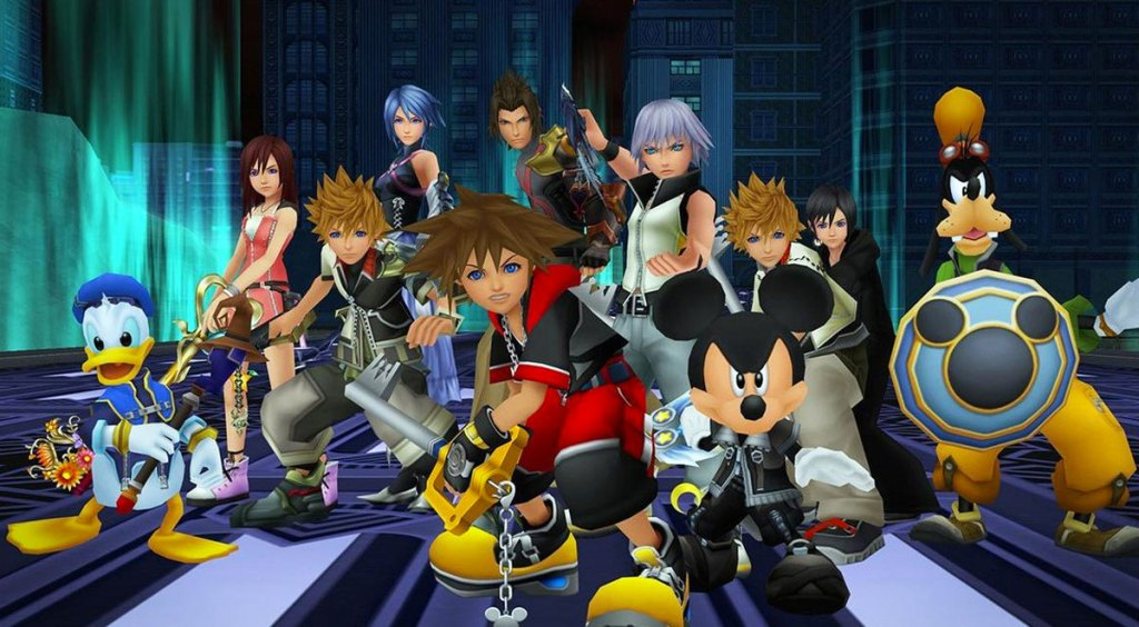 screenshot of all the kingdom hearts characters