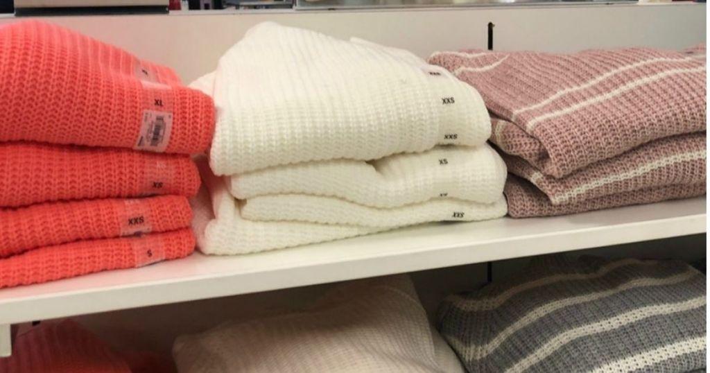 Kohl's SO Junior Sweaters on shelf