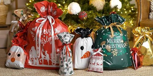 These Drawstring Gift Bags Make Wrapping a Breeze | 60 Bags w/ Tags from $40.96 Shipped on QVC