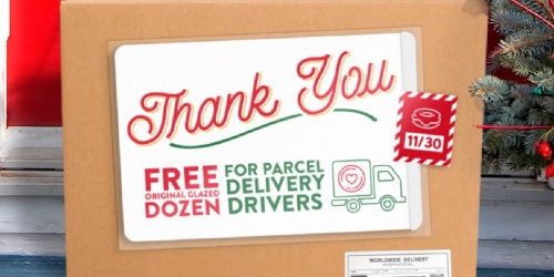 FREE Krispy Kreme Dozen for Delivery Drivers | BOGO Free Offer for Online Orders