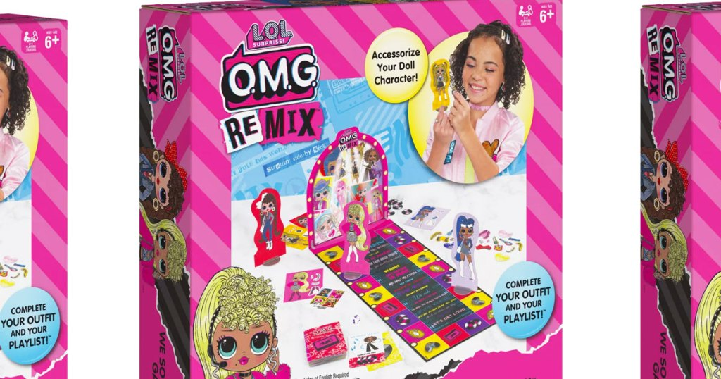 pink box for the LOL surprise OMG remix fashion runway board game