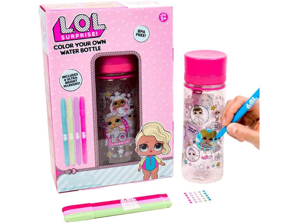 L.O.L. Surprise! Color Your Own Water Bottle kit