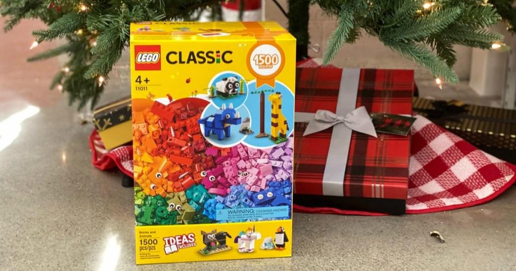 LEGO Classic Building Set under Christmas tree