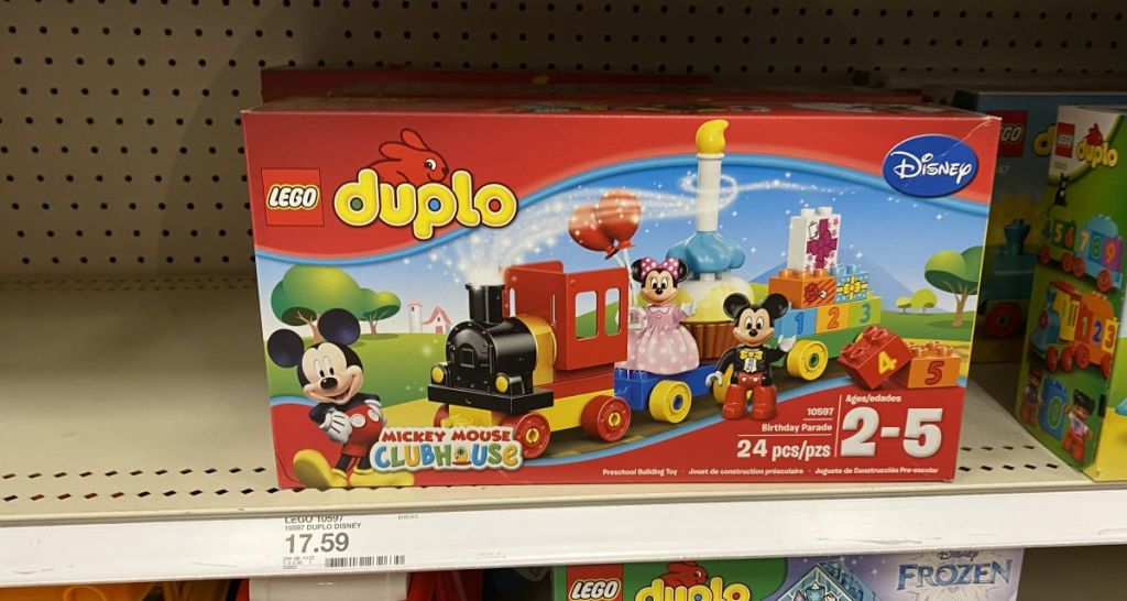 LEGO Duplo set on the shelf at Target
