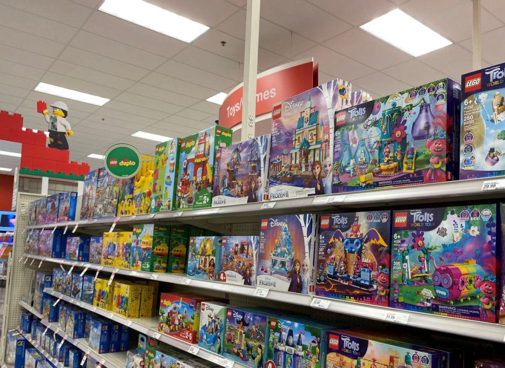 LEGO aisle in Target