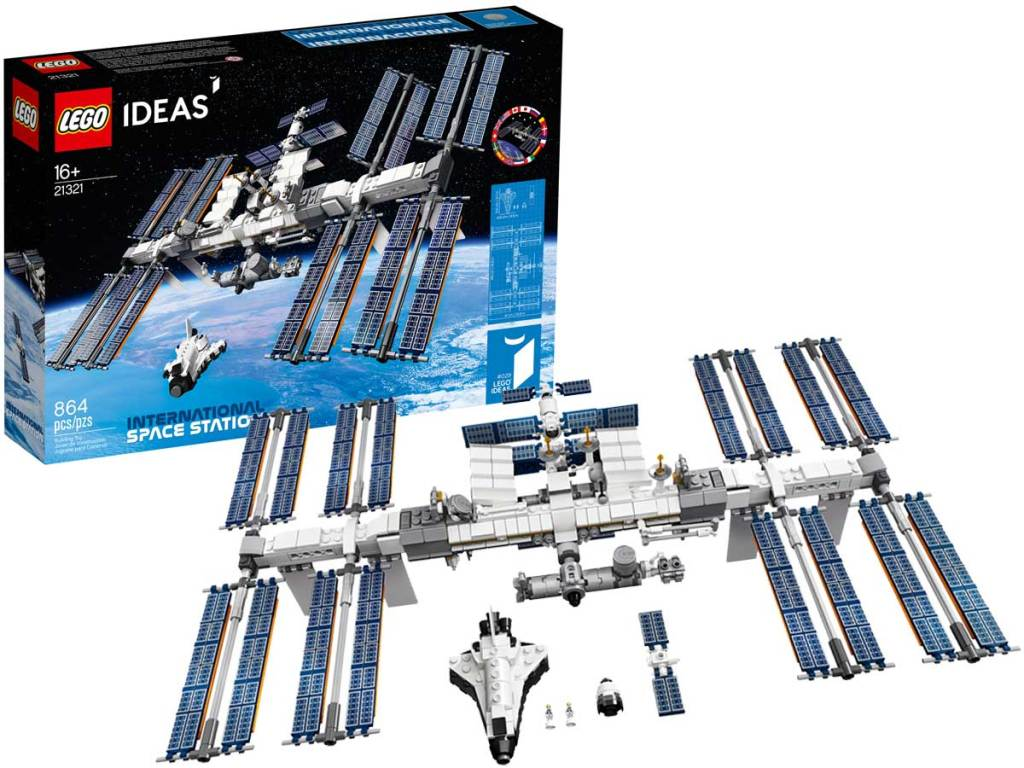stock image of lego space station