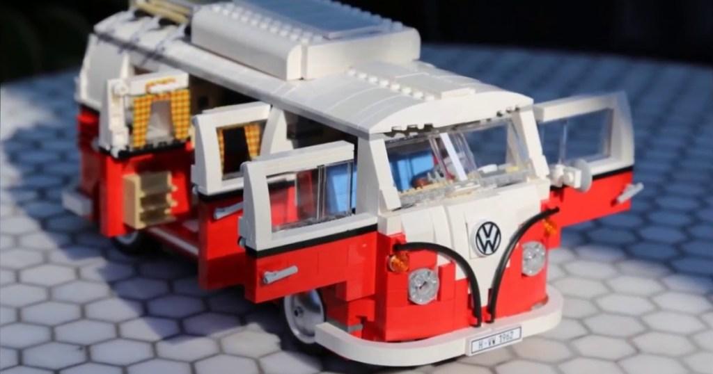LEGO volkswagon vehicle with doors open
