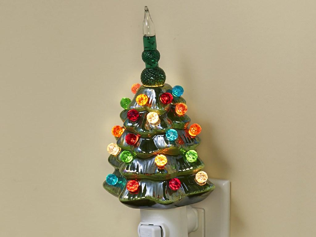 Lampu Malam Pohon Natal Retro