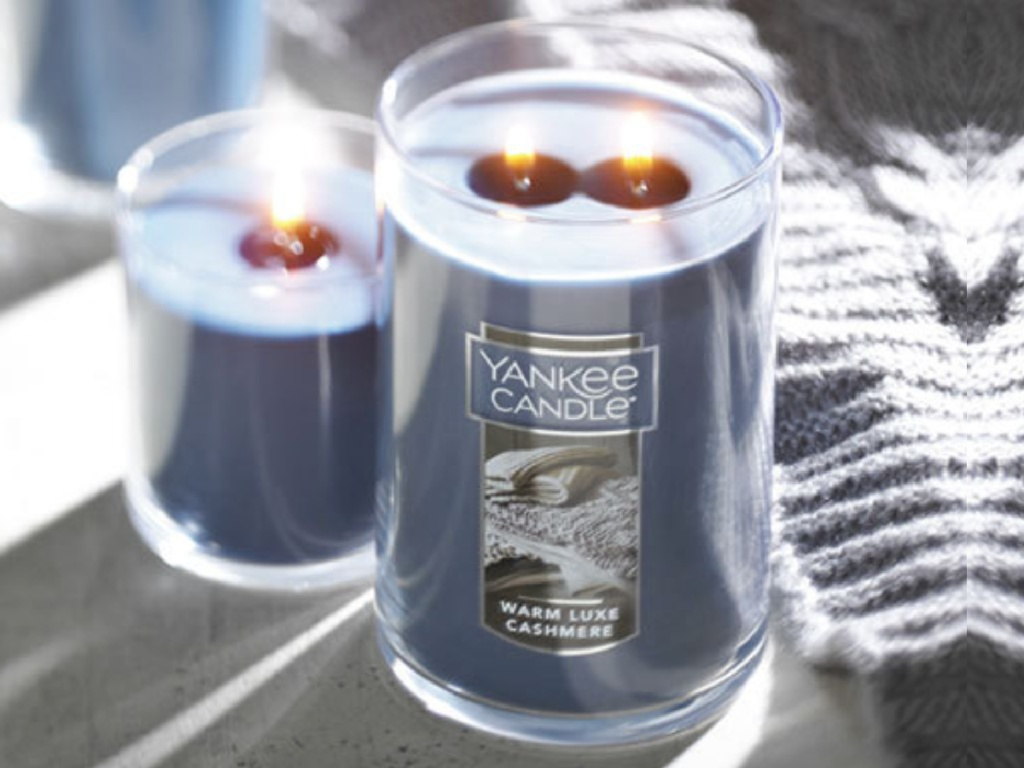 large luxe cashmere yankee candle