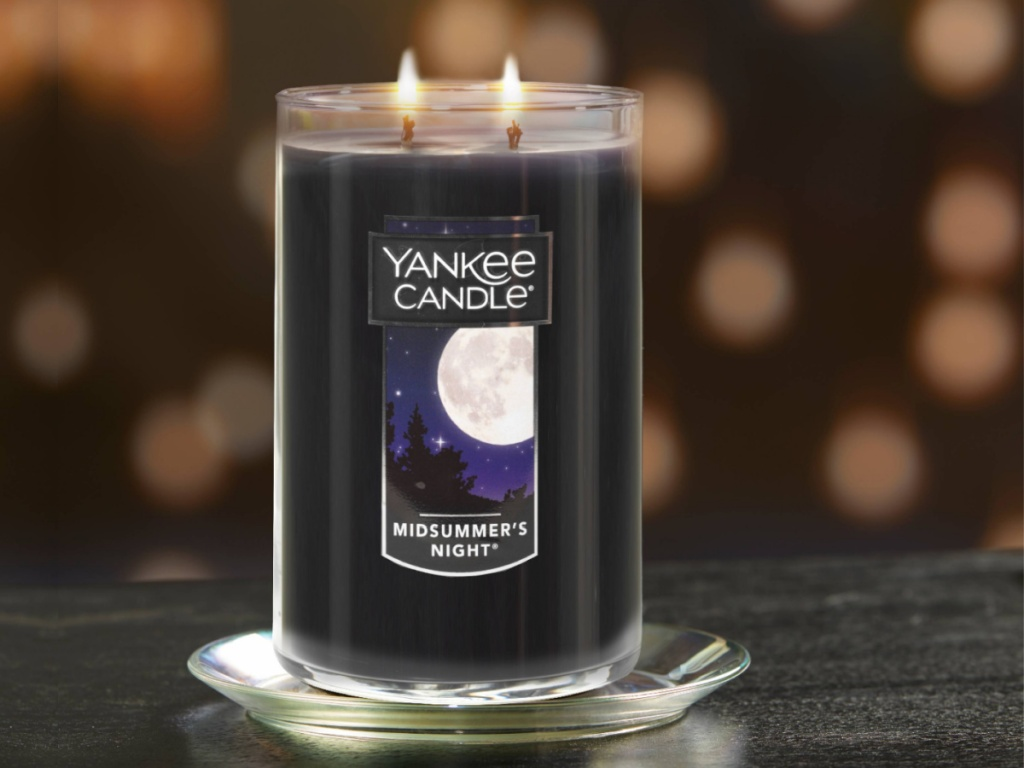 large yankee 2 wick candle in mid summer night
