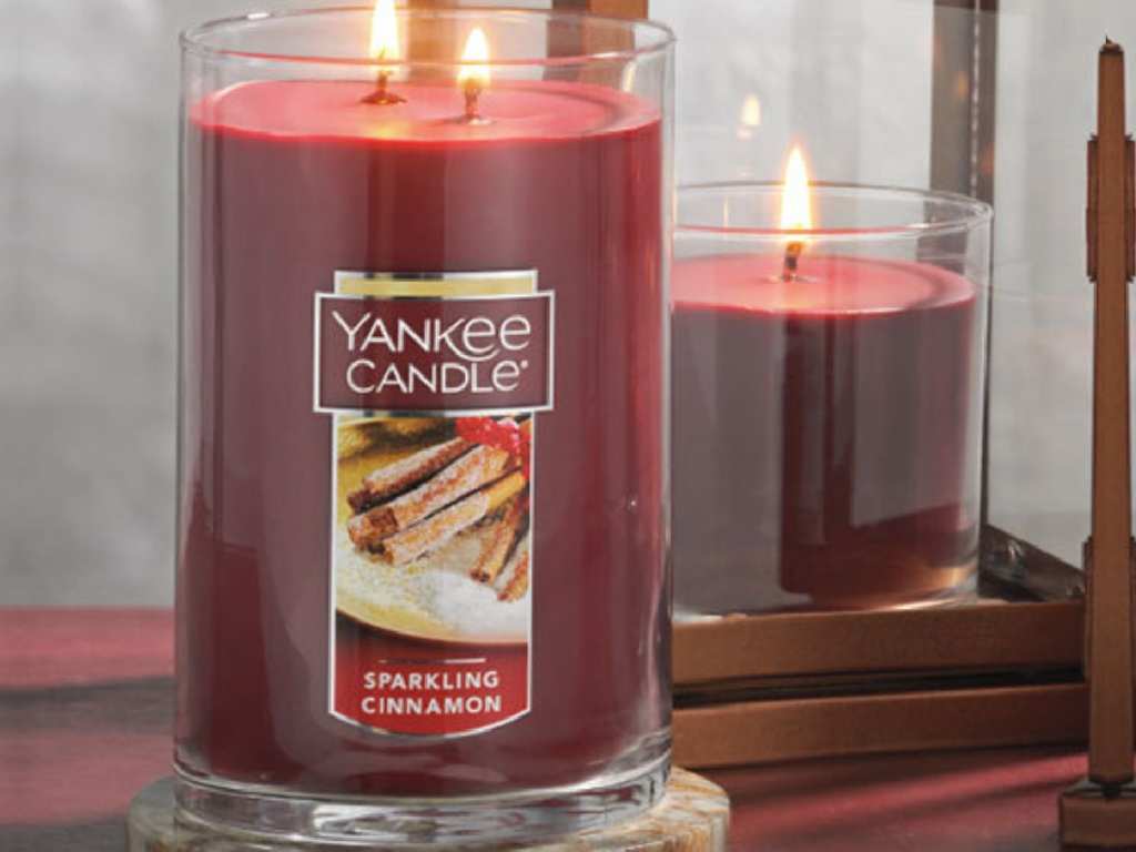 large sparkling cinnamon yankee candle
