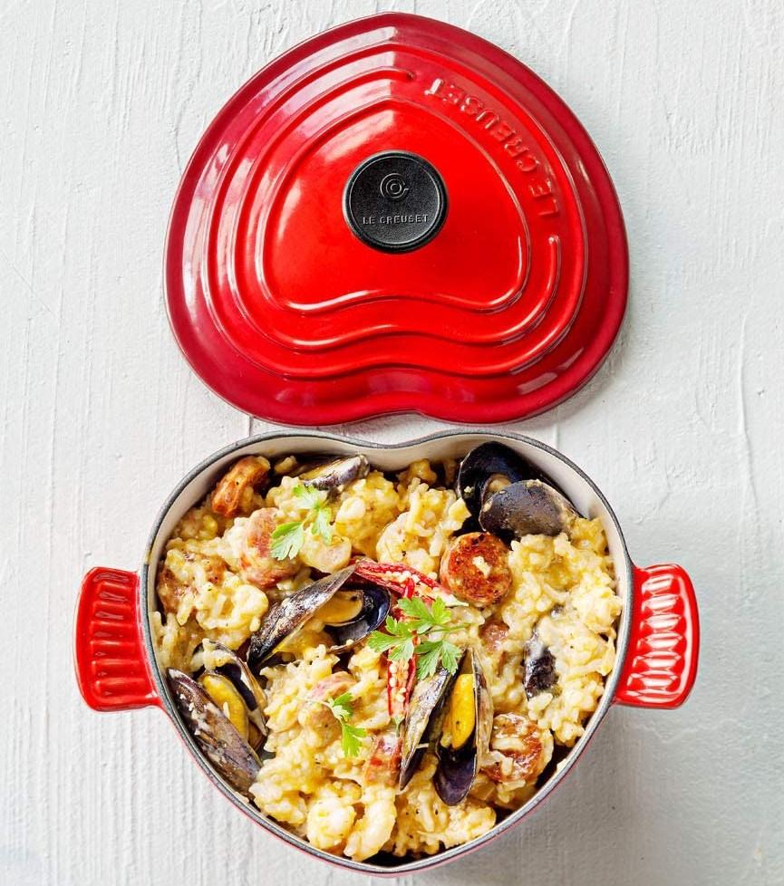 Le Creuset Heart cookware set