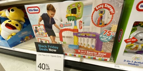 Little Tikes 3-in-1 Sports Zone Only $23.99 at Target (Regularly $40) | Basketball, Soccer & Bowling