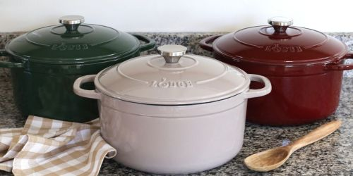 Lodge 6.5-Quart Enameled Cast Iron Dutch Oven Only $48.50 Shipped on Walmart.com (Regularly $100)