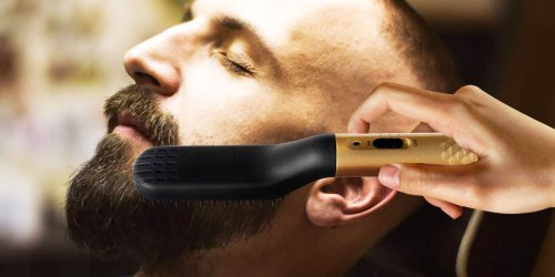 Portable Hair Straightening Brush Just $12.89 on Amazon (Tames Unruly Beards in Seconds!)