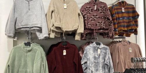 Women's Sherpa Sweaters from $9.99 on Macys.com (Regularly $34+)