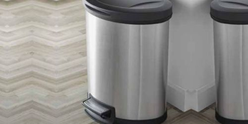 Mainstays Stainless Steel Trash Can w/ Lid Only $25 at Walmart   In-Store Black Friday Deal