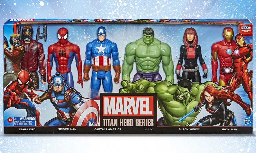 6 pack box of marvel avengers action figures