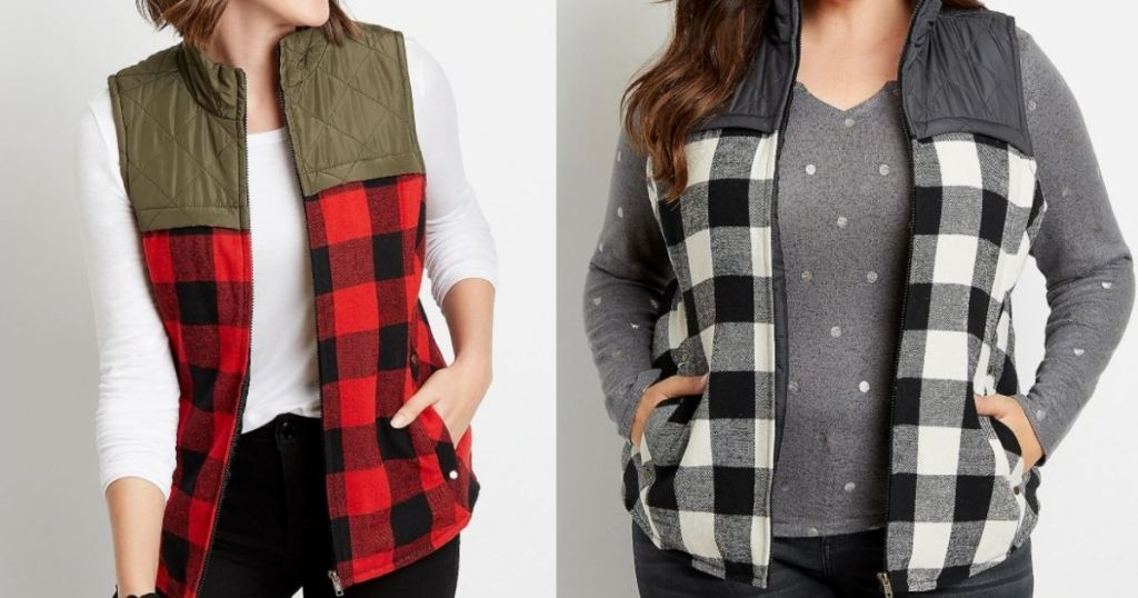 two women wearing Maurices vests