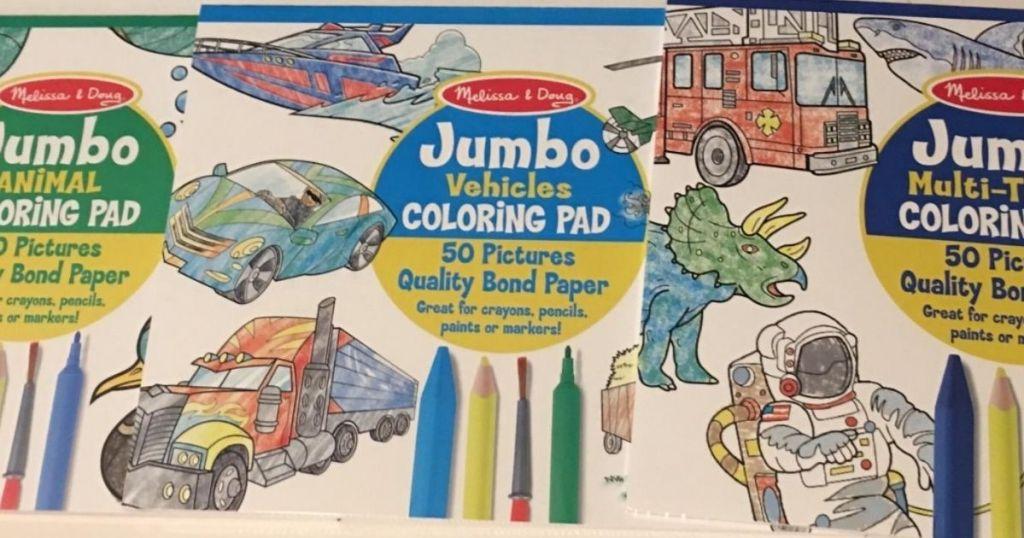 Melissa & Doug Jumbo Coloring Pad 3-count