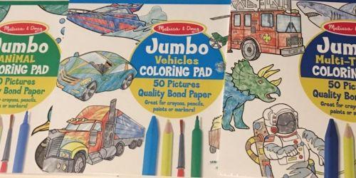 Melissa & Doug Jumbo Coloring Pad 3-Pack Just $10.99 on Amazon (Regularly $15)