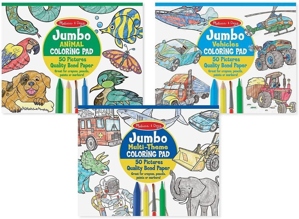 Melissa & Doug Jumbo COloring Pads 3-pack