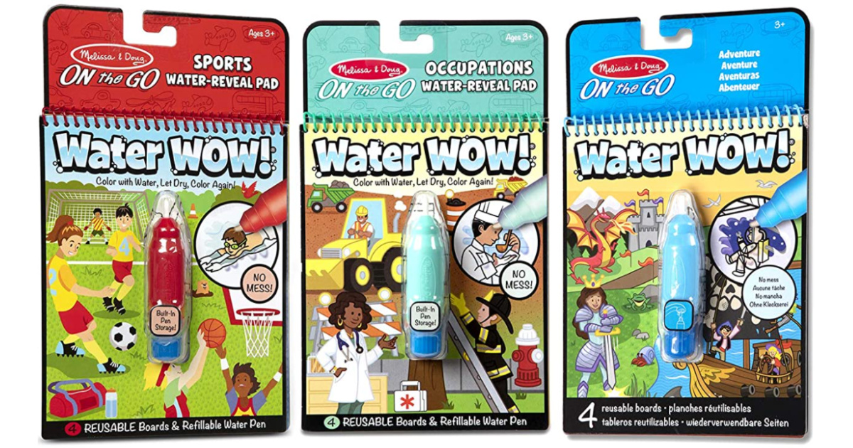 melissa & doug water wow coloring books