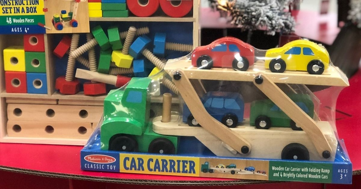 Melissa & Doug Car Carrier Toy in package
