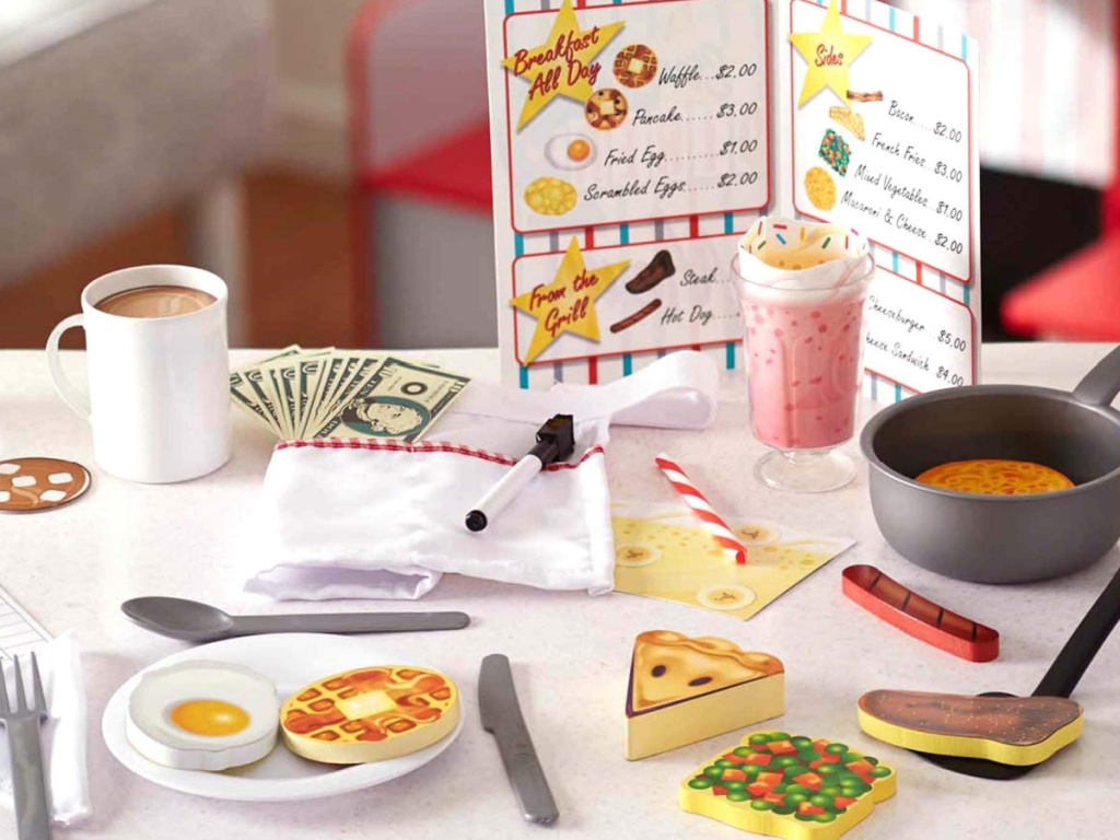 melissa and doug child's diner set