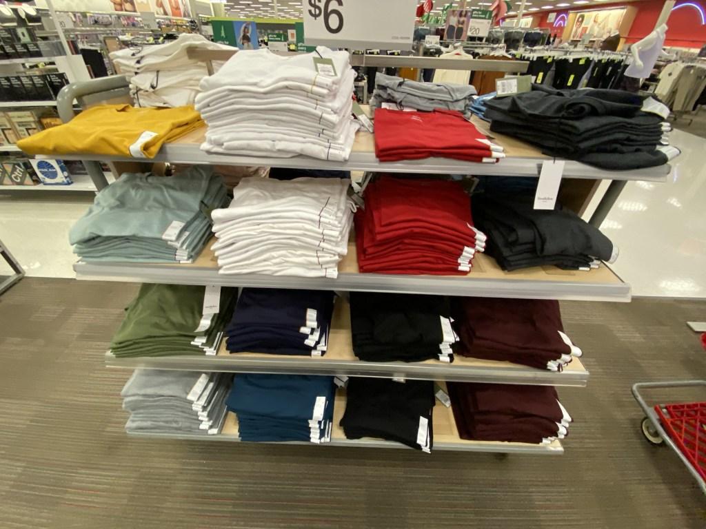 Men's Basic Tees on display at target