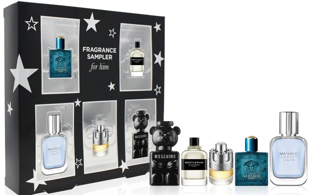 fragrance sampler and box