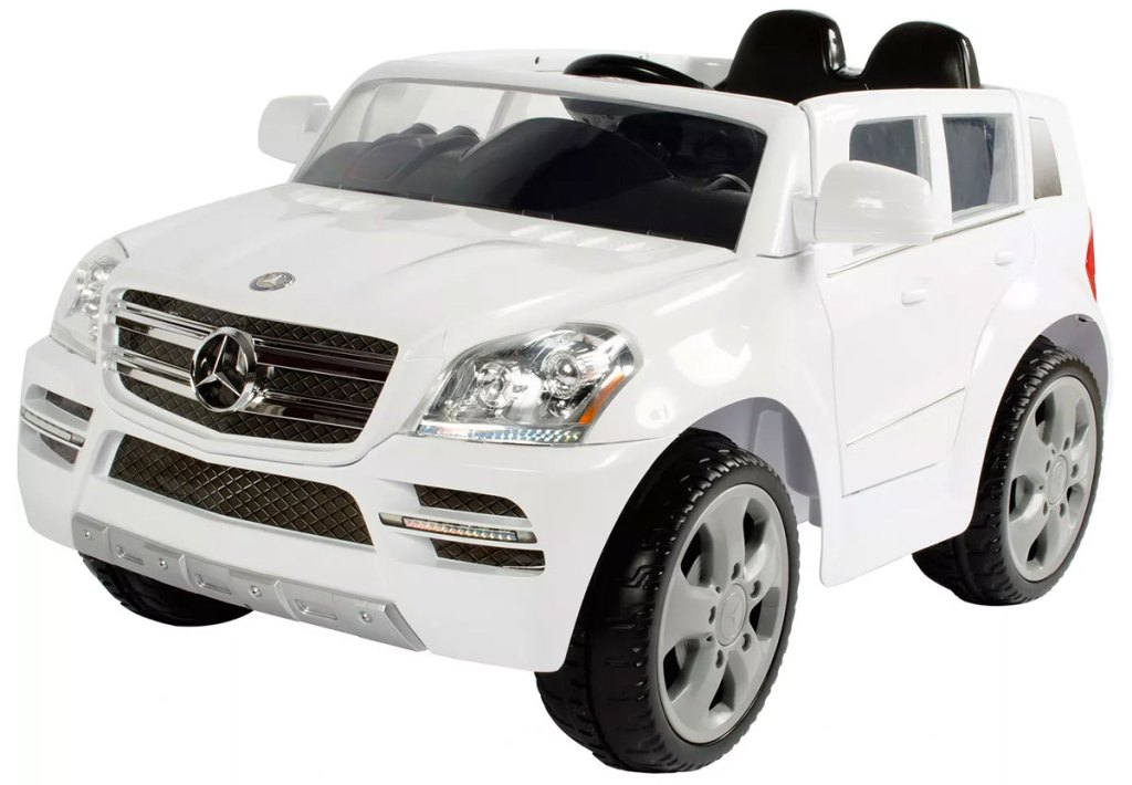 white mercedes suv kids ride-on toy