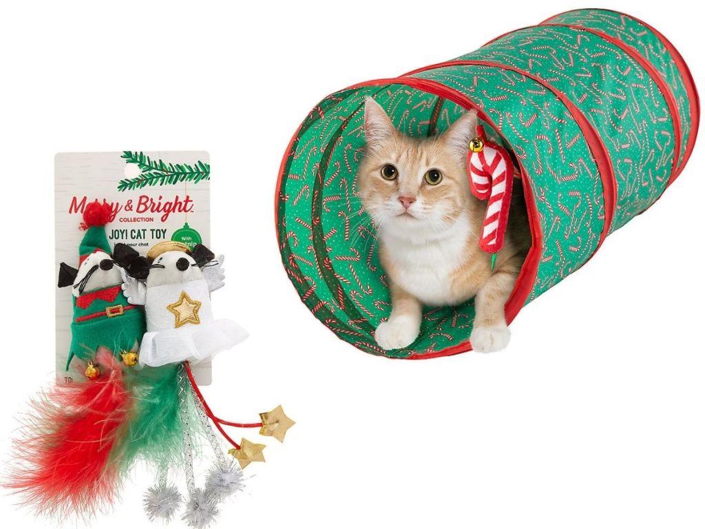 2 Mainan Kucing Merry & Bright Holiday