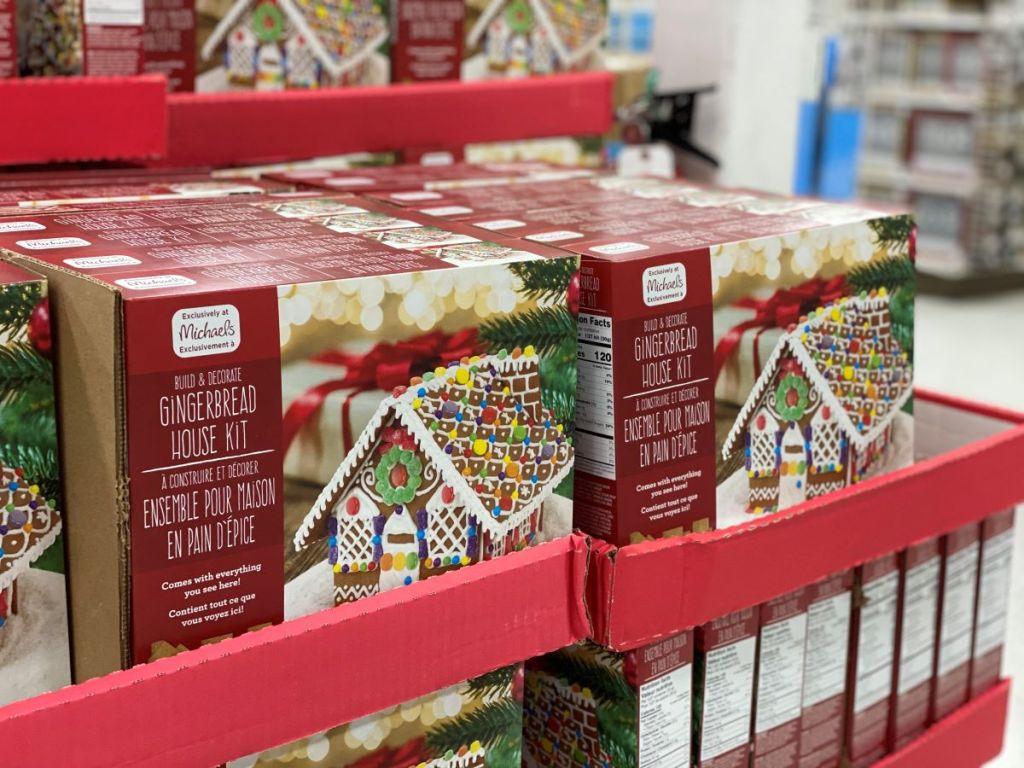 gingerbread house kits at Michaels