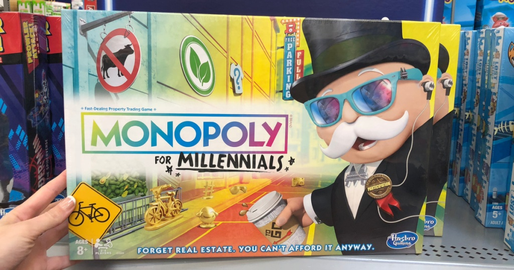 monopoly millenials board game